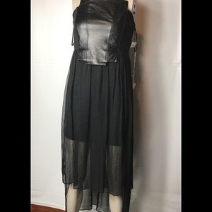 Boundary black sleeveless high low dress size SM